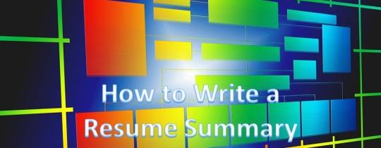 how-to-write-a-resume-summary